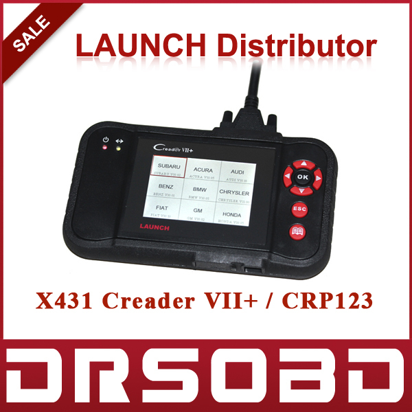 2015 New LAUNCH Creader VII+ Code Scanner Creader VII Plus 7+ Support Multi Brand Diagnostic Tool Creader 7 DHL Free Shipping(China (Mainland))