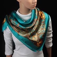 90cm*90cm 2016 Big Size Silk Square Scarf Women Fashion Brand High Quality Imitated Silk Satin Scarves Polyester Shawl Hijab(China (Mainland))