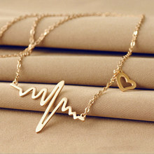 2016 New Hot fashion lovely heart-shaped necklace playing metal alloy chain, royal jewelry metal alloy jewelry chain clothes(China (Mainland))