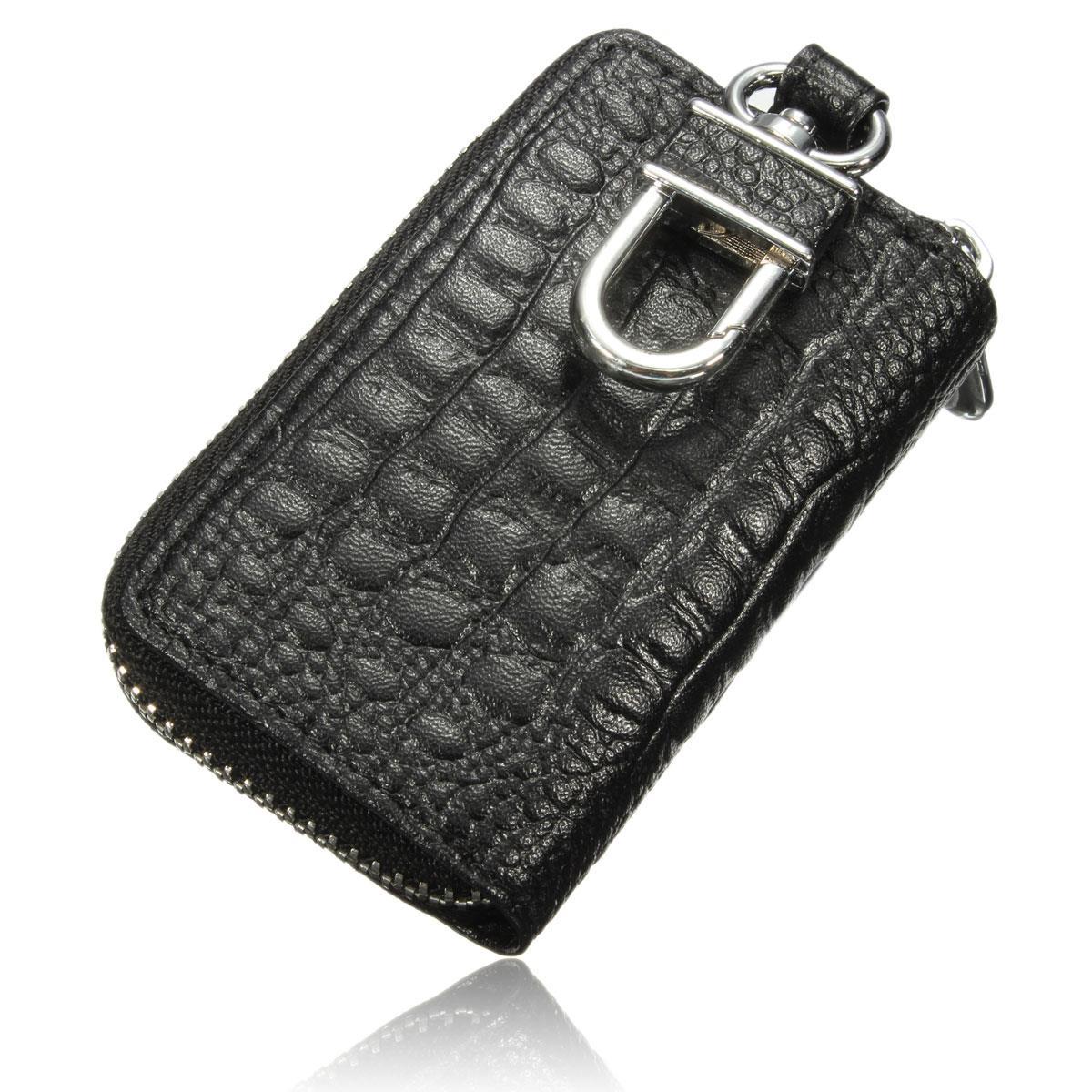 Hot Car Key Wallets Women Men Faux Leather Keychain Holder Bag Keys Purse Case High Quality 4 Colors Bump Texture Portable(China (Mainland))