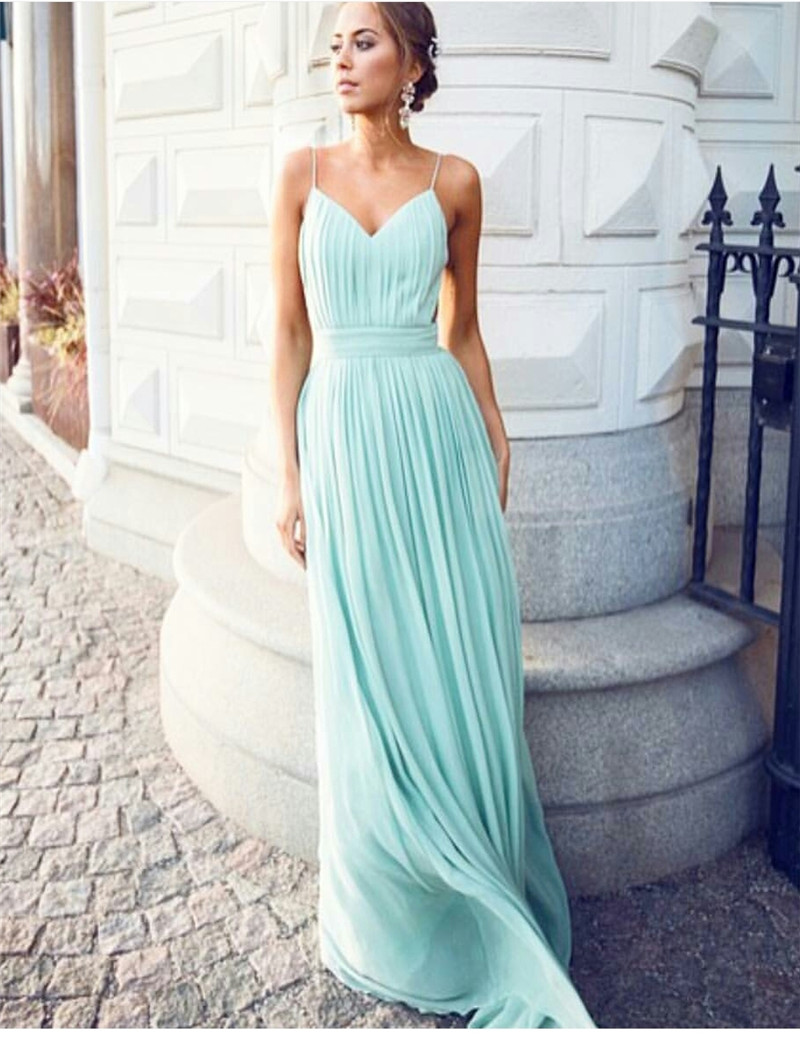 buy cheap pretty dress bridesmaid dress teal party dress spaghetti strap robe. Black Bedroom Furniture Sets. Home Design Ideas