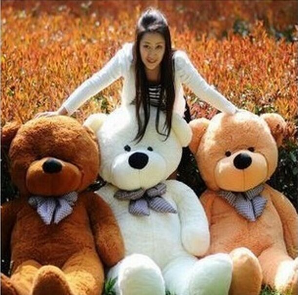HOT new Large 1.4 Meters Teddy Bear Lovers Big bear Arms Stuffed Animals Toys Plush Doll filled bear Birthday gift Plush toy(China (Mainland))