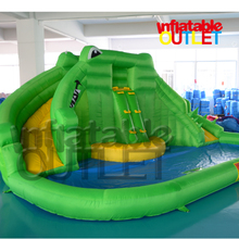 Crocodile Inflatable Water Slide Water Park With Water Pool(China (Mainland))