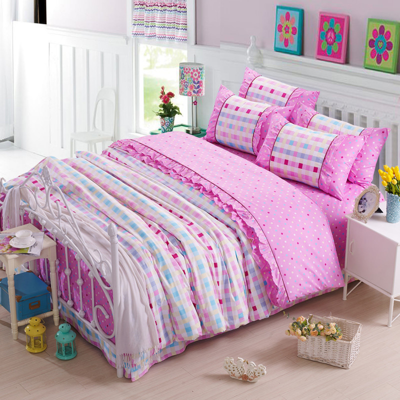 pink duvet cover hello kitty bed sheets totoro bed line girls comforter sets kids bedding set. Black Bedroom Furniture Sets. Home Design Ideas