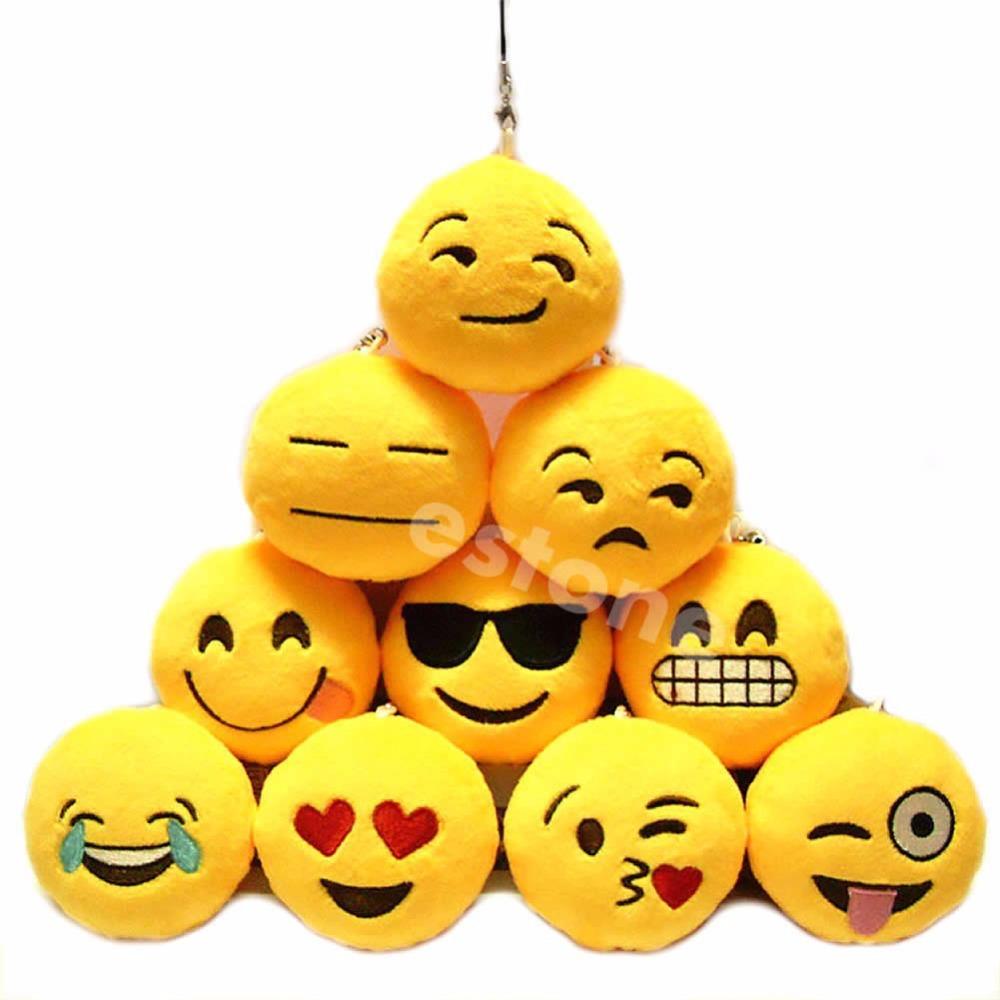 Emoji Smiley Emoticon Amusing Key Chain Toy Gift Pendant Bag Accessory Nice(China (Mainland))