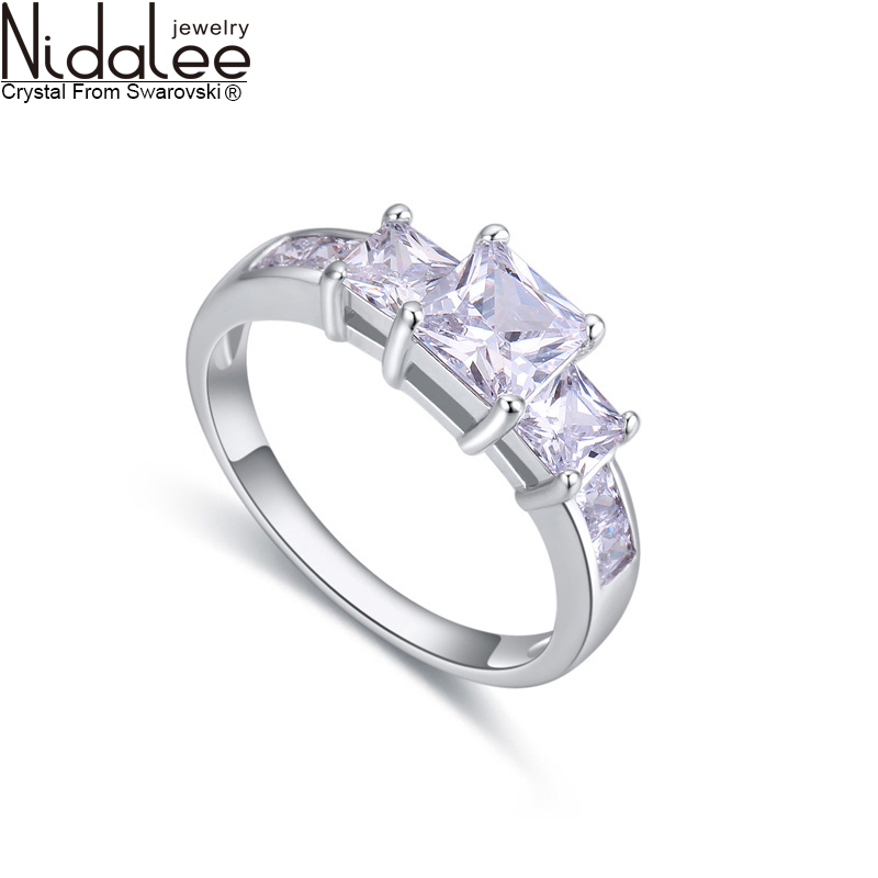 Nidalee Exclusive Design 925 Sterling Silver Rings For Women Fashion Zircon Party Vintage Wedding Rings Sapphire-Jewelry R464(China (Mainland))