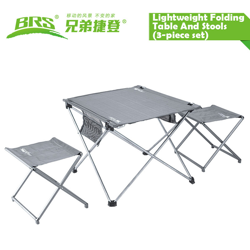 Free shipping BRS-t03 Lightweight Folding Table And Stools Outdoor Table Stools(China (Mainland))
