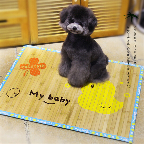 2015 Summer Products for Animals High Quality Bamboo Dog Bed Cool Dog Pad Easy to Clean Bed for Dogs/Cat 1pcs/lot(China (Mainland))