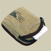100% cotton Canvas waist bag men molle pouch,casual fanny pack for women and men's travel running bags