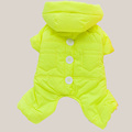 Yellow Blue Orange Pink Concise Pet Clothes Winter Dog Jumpsuit Rompers Coat For Small and Large