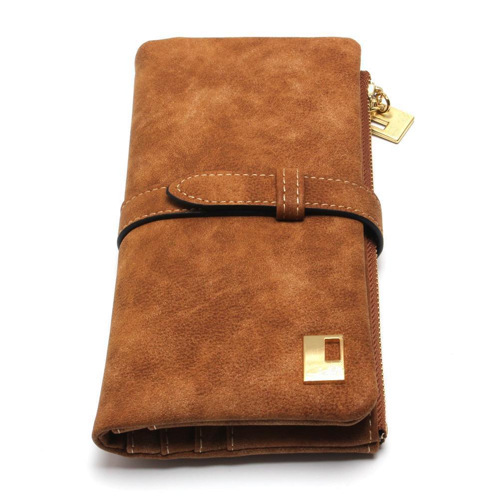 BICOLOR Fashion Women Wallets Drawstring Nubuck Zipper Wallet Women's Long Design Purse Two Fold(China (Mainland))