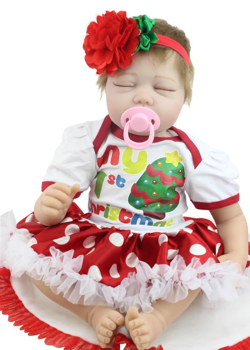 55cm silicone reborn baby doll toys, lifelike newborn sleeping reborn babies Christamas gift child play house girls brinquedos<br><br>Aliexpress