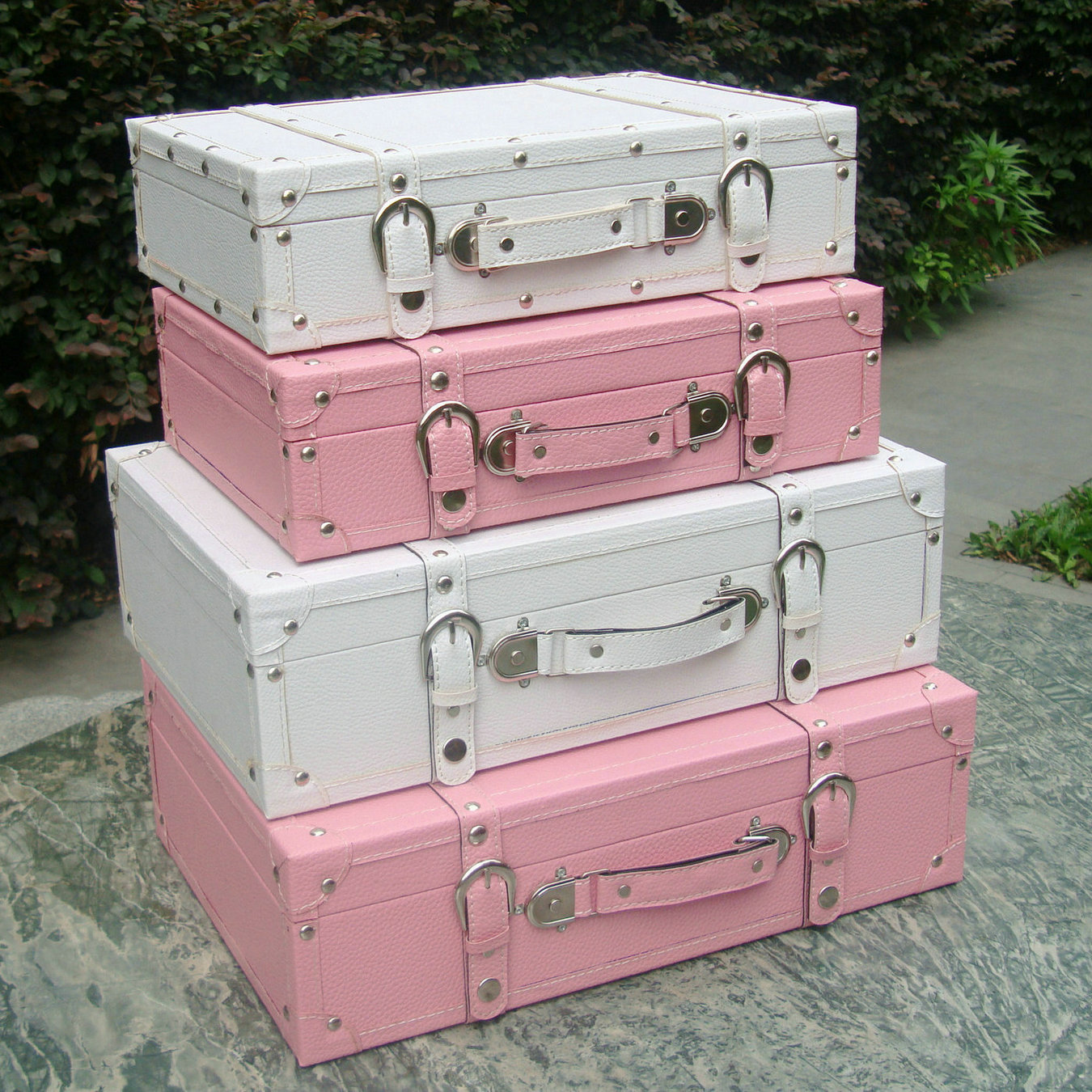 Fashion vintage suitcase storage box suitcase wooden box for Application box decoration