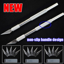 Metal Handle Hobby Knife/cutter knife / craft knife / pen cutter+ 10pcs Blade Knives set for PCB Phone Repair DIY tool
