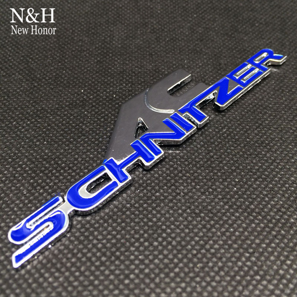 Car styling for AC Schnitzer blue color Badge Decal Emblem 3D car Sticker Badge for BMW AC Schnitzer Trunk tail stickers(China (Mainland))