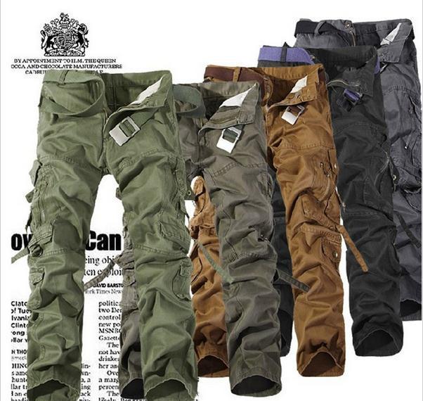 Baggy Khaki Cargo Pants For Men Mens Khaki Cargo Pants
