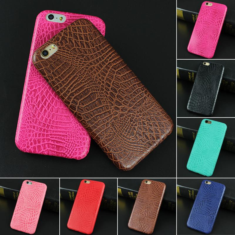 For iphone 6 6s Case Luxury Crocodile Snake Print Leather Case Back Cover for iphone 6 6s 6 Plus 5 5S SE Phone Bags Coque Capa(China (Mainland))