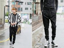 Hommes harem pantalon Livraison gratuite la nouvelle version Coréenne de la  mince mode casual bottes pantalon vêtements de perfo. 26012513a512