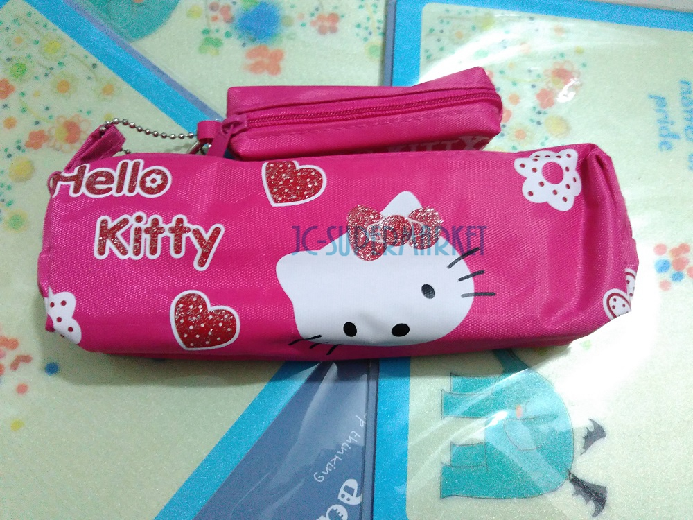 hello kitty sanrio makeup stationery Cosmetic girl stationery pencil bag box case Case &Wallet Coin Holder Pouch Case(China (Mainland))
