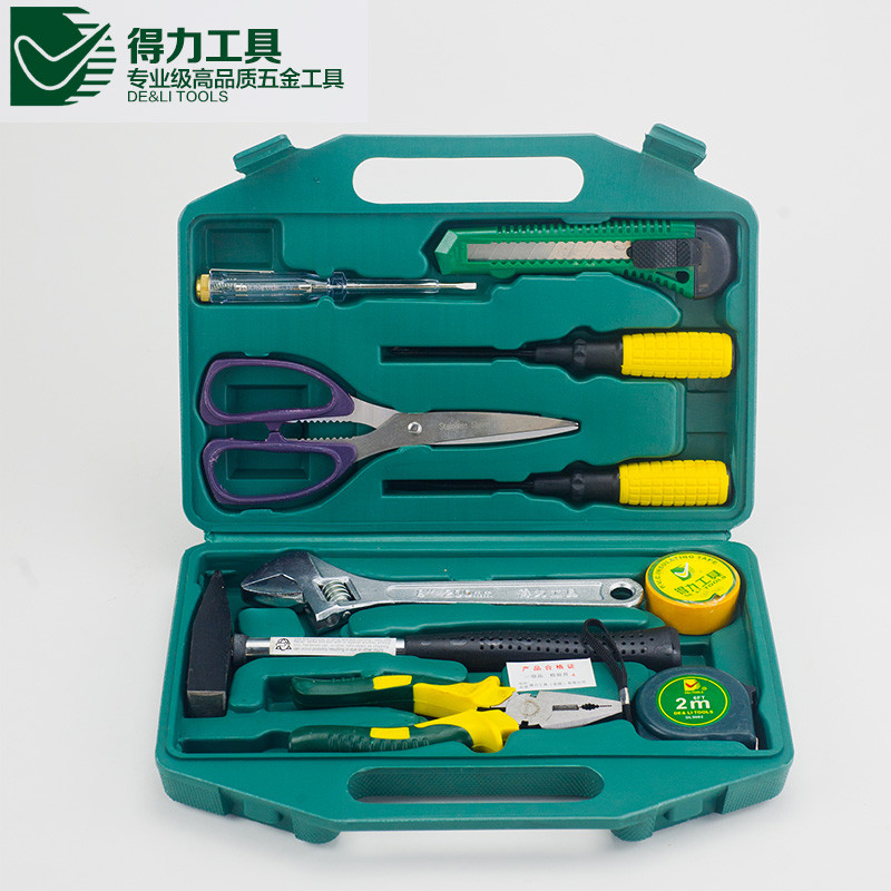 Excellent Quality DL1010 10pcs a set DELI Household multifuncional electrician woodworking repair tool set<br><br>Aliexpress