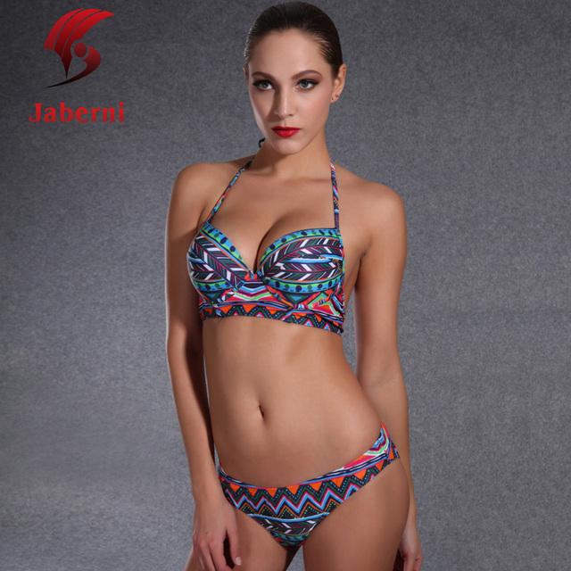 Австралия мода одежда для пляжа сексуальная холтер комплект бикини росту женщин бренда народном купальники длинная линия купальник печать Bathsuit