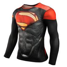 Newest Compression Shirt Superhero/Iron Man 3D Print T-Shirt Gym Fitness Men Long Sleeve Sport Gasp T Shirt Clothing