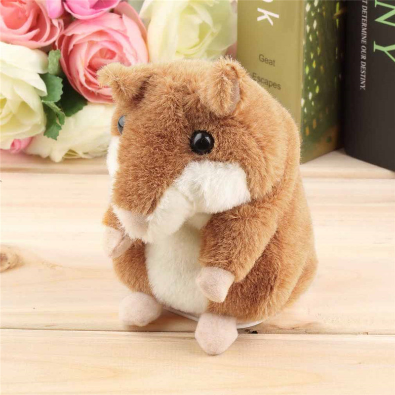 For boys and girls Lovely Talking Hamster Plush Toy Hot Cute Speak Talking Sound Record Hamster Toy Promotion(China (Mainland))