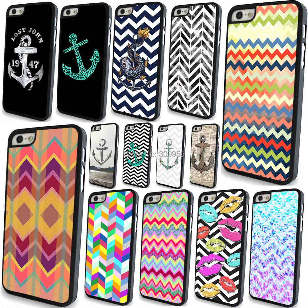 Phone case iPhone 5 5s Colorful Retro Styles sailor Anchor Vintage Painted Hard PC Cell Back Cover Skin WHD752 16-30 - poplar1115 store