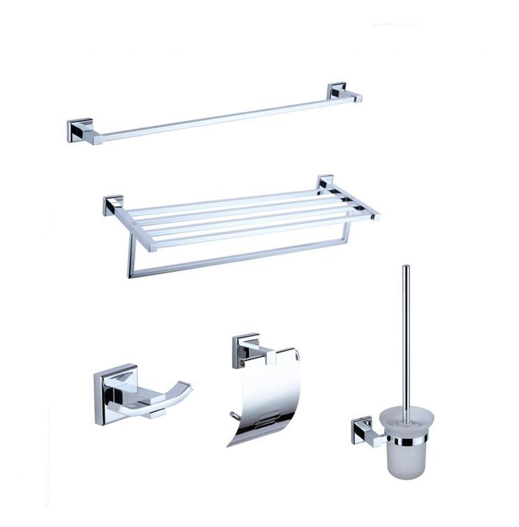 Big promotion bathroom accessories set guaranteed five pcs for D line bathroom accessories