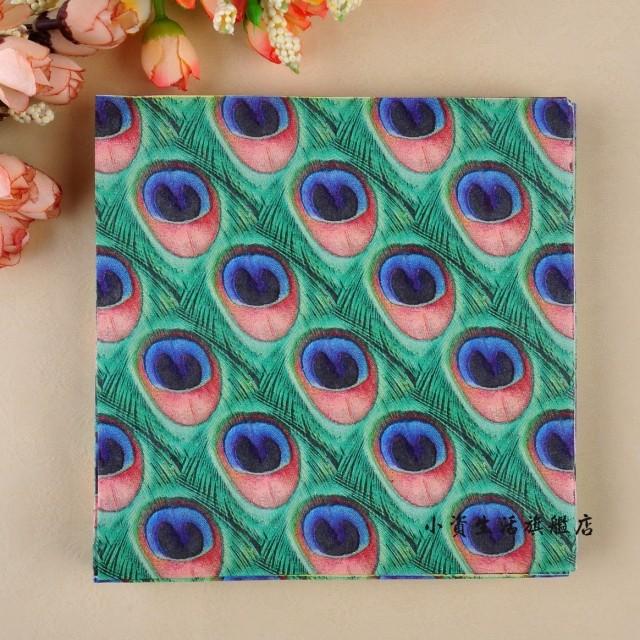 Fashion Printed table napkin Colorful paper towel Dinner napkin paper colorful serviettes ( 10 packs=200pcs)(Hong Kong)