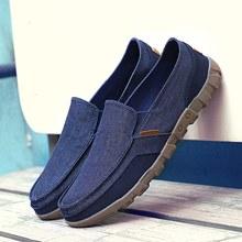 Zapatos de lona de verano para hombre, zapatos casuales cómodos y sólidos para hombre, zapatos mocasines de verano ligeros con cordones para hombre, zapatos de talla grande 38-48(China)