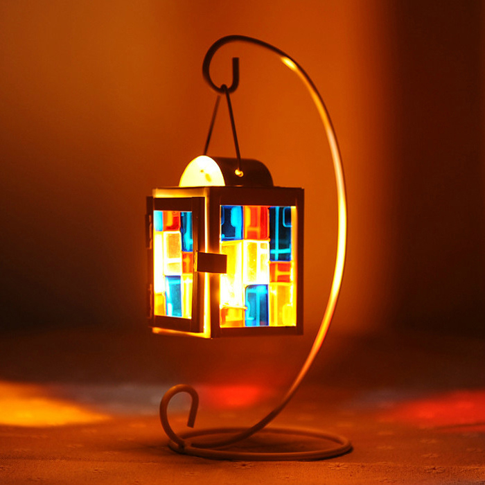 candle stand,candlestick,hanging candle,metal and glass lighthouse, free shipping, home decoration(China (Mainland))