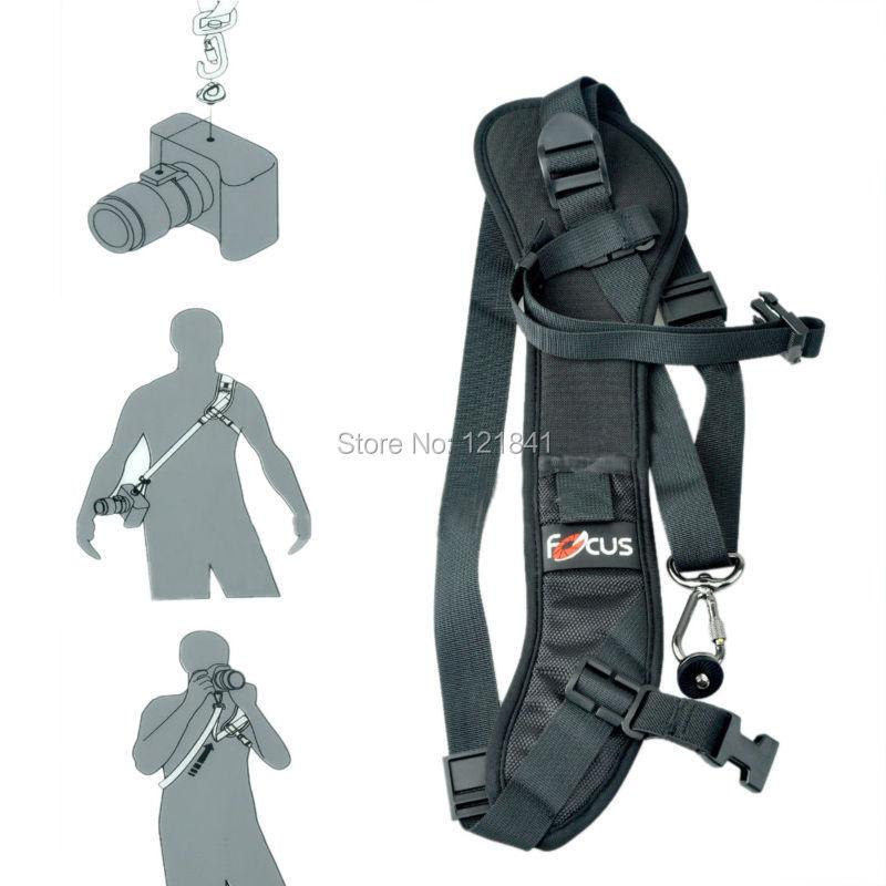 High Quality Focus F-1 Quick Carry Speed Sling soft Shoulder Sling Belt Neck Strap For Canon Nikon Sony Pentan Camera DSLR Black(China (Mainland))