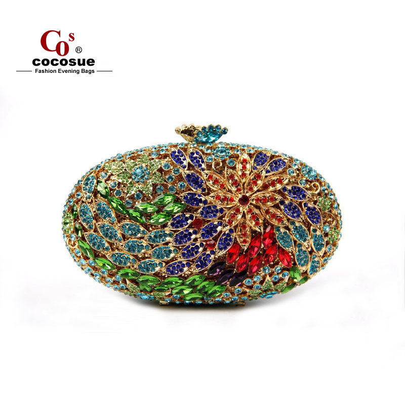 Evening Bags 2015 New Flower Shape Crystal Fashion Women Handbags Luxury Ladies Clutches CO1557 - Guangzhou cocosue Co., Ltd. store