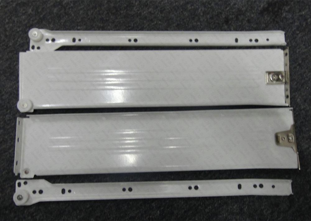 1Pair/LOT H86*D500mm Metal Box Metabox Single Wall Drawer Slide Runners Rail Kitchen Bath Furniture Cabinet(China (Mainland))
