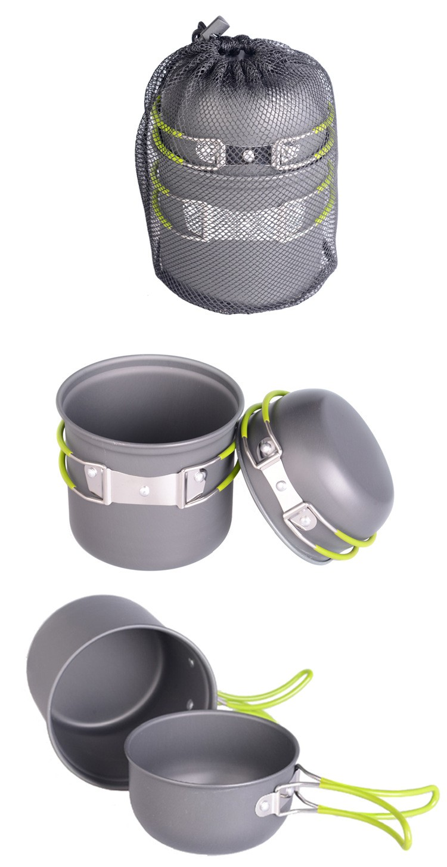 Bol plegable cantimplora militar camping dishes titanium pot utensils for a picnic travel tableware camping cookware (7)