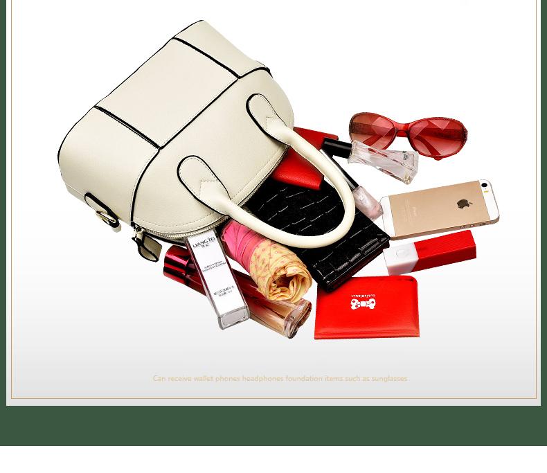Splicing Shell Bag 2016 New Female Chic Hand Bag Women Korean Style Gorgeous Shoulder Bag Designer Patchwork PU Crossbody Bag