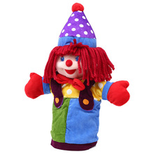 37cm Plush hand puppets Parent-child early childhood toys animal hand puppets for kids clown hand puppet plush baby birthday toy(China (Mainland))