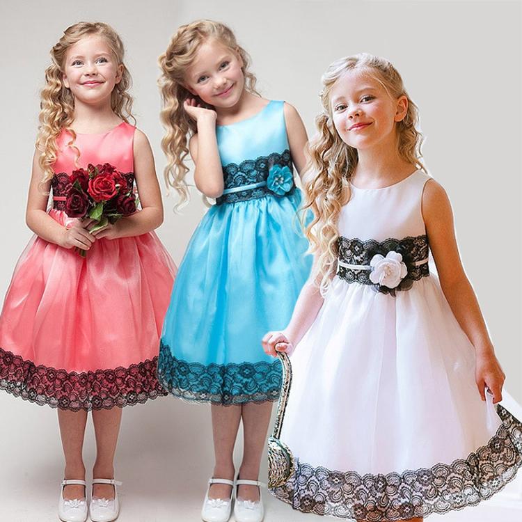 Girls dresses kids Sleeveless Princess Party Dress Summer Baby Girl Lace Dresses with 3 colors Infantis Vestido Feminino HA197<br><br>Aliexpress