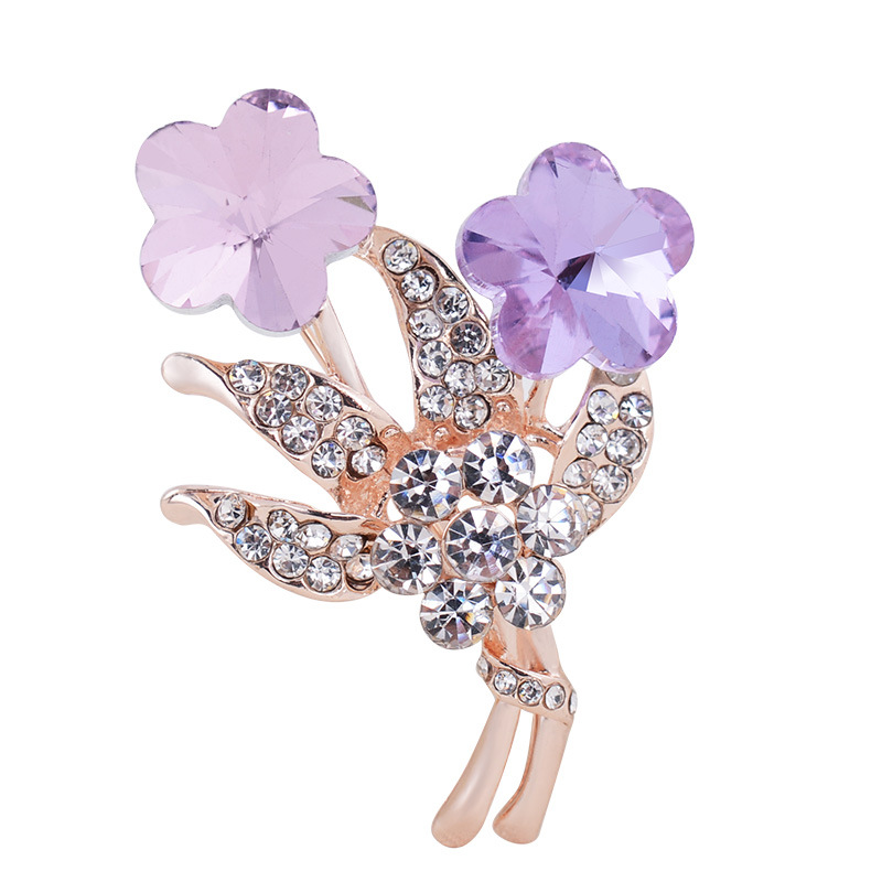 2016 Crystal Pin Leaf Brooch Fashion Broches Lapel Flower Corsage Gold Brooches for Women Flower Lapel Pins Wholesale(China (Mainland))