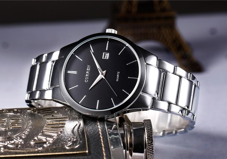 2016 Top Luxury Brand CURREN Men Full Stainless Steel Business Watches Men's Quartz Date Clock Men Wrist Watch relogio masculino