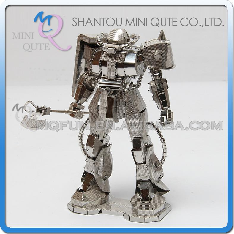 Mini Qute 3D Metal Puzzle Silver Robot super hero military Vehicle Adult kids model educational toys gift NO.S200-28 - MINIQUTE store