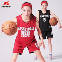 Reversible Womens Basketball Jersey Set Short Girl Double-sided Sportwear Basketball Training Suit Jersey Quick Dry Custom LOGO