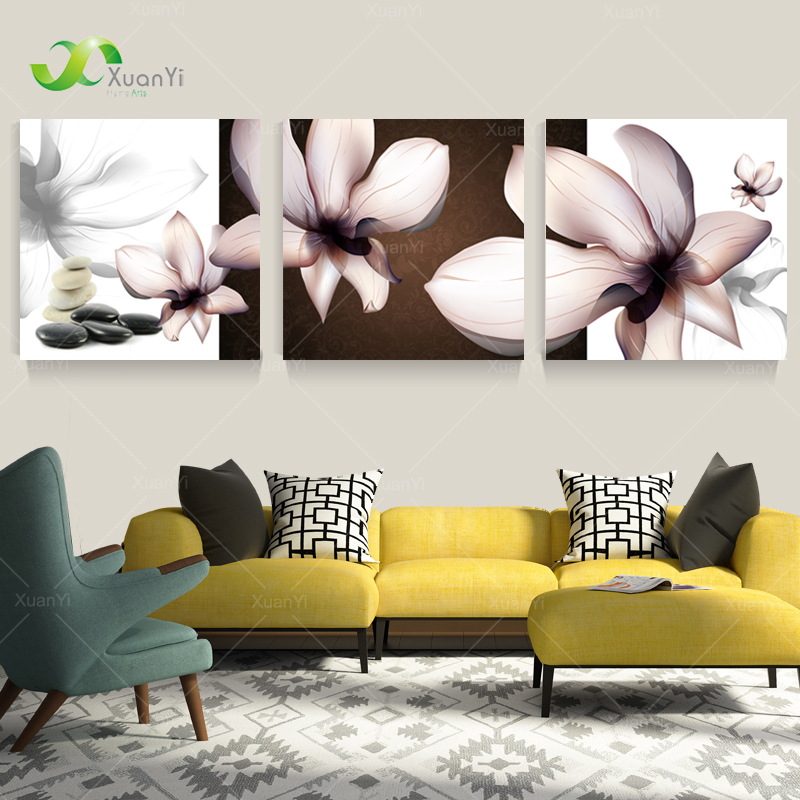 3 Panel Modern Printed Orchid Flower Painting Pictures Cuadros Canvas Art Painting Home Decor For Living Room No Frame PR099(China (Mainland))