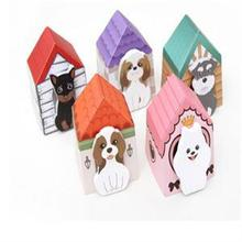 Lovely 3D Dogs House Memo Pads sticky notes memo sticker Girls stationery Supplies random colors(China (Mainland))