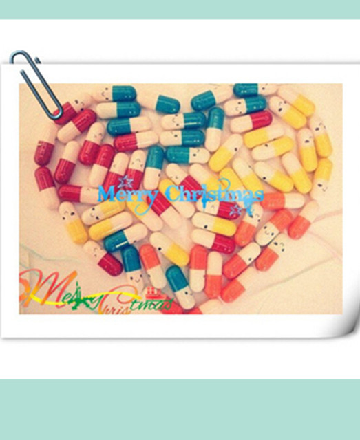 Free shipping 20 color mix fashion love pill /Artwork / Christmas gifts,Wishing Gifts,Wish cards,Wishing Pills 300 / lot