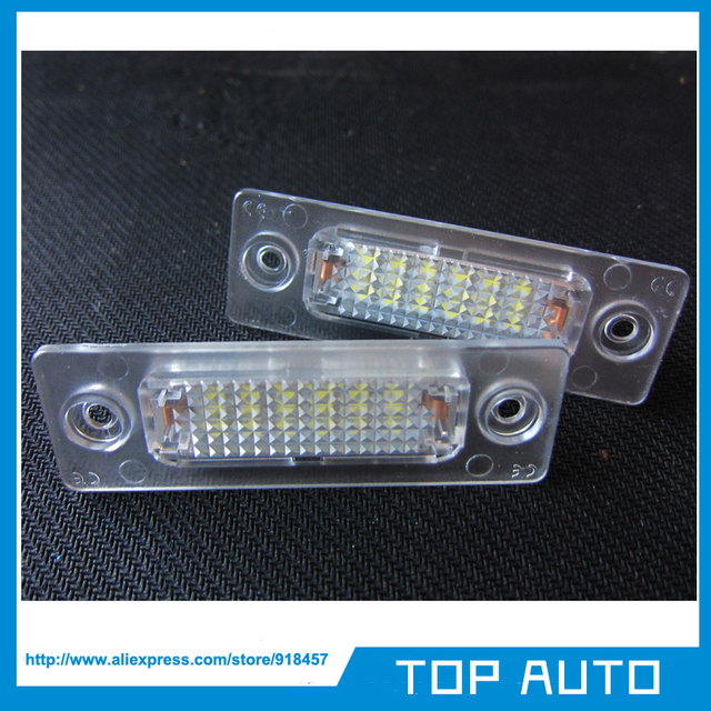2Pcs LED License Plate Light For Volkswagen VW Touran 1T Caddy Passat MK3 Golf Plus 1K SKODA Superb MK1 3U B5
