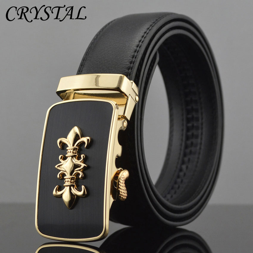 Designer Belt Men Luxury Mens Belts Genuine Leather Cinto Masculino Luxo Silver Metal Buckle Automatic Gold 2016 - Pateroy Flag-Ship Store store