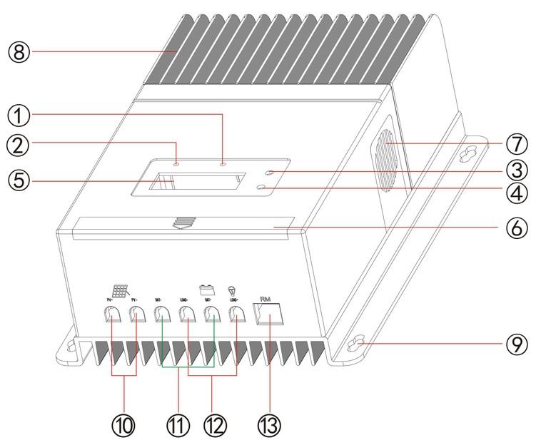 Max Pv Input 150v Auto Work Voltage 12v 24v 48v Rohs Mppt