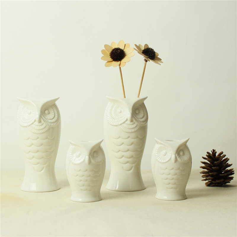 Online Buy Wholesale Owl Vase White From China Owl Vase